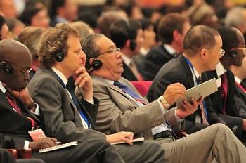 На Всемирном медиа-саммите в Китае не говорили о свободе СМИ. Пекин. 10 октября. Фото с epochtimes.com