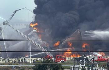 На химическом заводе в провинции Чжэцзян произошли три сильных взрыва. 19 октября 2009 год. Фото с epochtimes.com