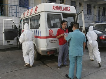 Массовое заражение гриппом H1N1 произошло в школе уезда Синьань провинции Хэнань. 30 августа 2009 год. Фото с epochtimes.com