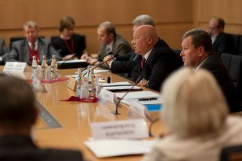 Всероссийский съезд саморегулируемых организаций (СРО) в Москве, проходивший 10 ноября 2009 года. Фото: С сайта gap-sro.ru