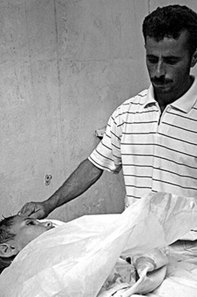 Работа «Отец горюет о своем мертвом 10-летнем сыне». Фото: Анне Пак Epoch Times Deutschland