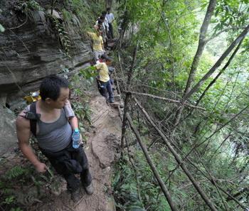 Туристы из России пропали в горах Китая. Фото: AFP/AFP/Getty Images
