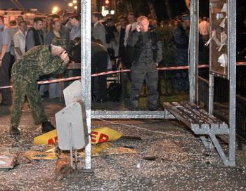 В Санкт-Петербурге взорвана остановка. Фото: ЮРИЙ KADOBNOV / AFP / Getty Images