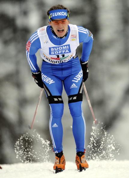 Лыжник Никита Крюков завоевал бронзу на этапе Кубка мира в Финляндии. Фото: OLIVIER MORIN/AFP/Getty Images