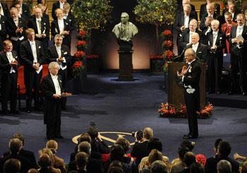 Церемония вручения Нобелевской премии мира Фото: OLIVIER MORIN/Getty Images