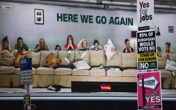 В ожидании результатов референдума. Фото: Jeff J Mitchell/Getty Images