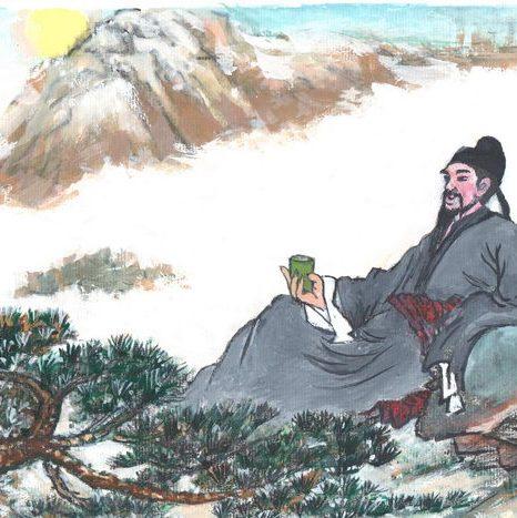 Ли Бай - мудрый поэт династии Тан. Иллюстрация: Кийока Чу/Великая Эпоха (The Epoch Times)