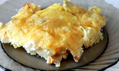 Картофель, запечённый с рыбой в духовке. фото: Мария Мареева/Великая Эпоха (The Epoch Times)