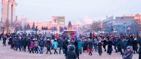 Празднование Сагаалган в Бурятии. Глобальный ехор. Фото: Доржи Гомбоев/Великая Эпоха (The Epoch Times)