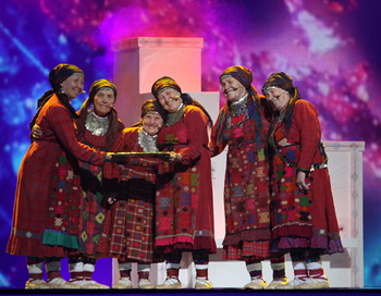 «Бурановские бабушки» на «Евровидении-2012». Фото: РИА Новости