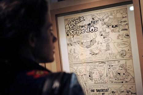 Герою комиксов Астериксу посвящена выставка в Париже. Фото: BERTRAND GUAY/AFP/Getty Images