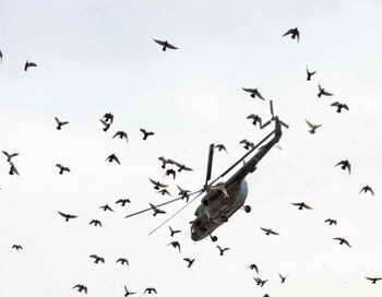 В Никарагуа разбился Ми-17 с главой ВВС на борту. Фото: MASSOUD HOSSAINI/AFP/Getty Images