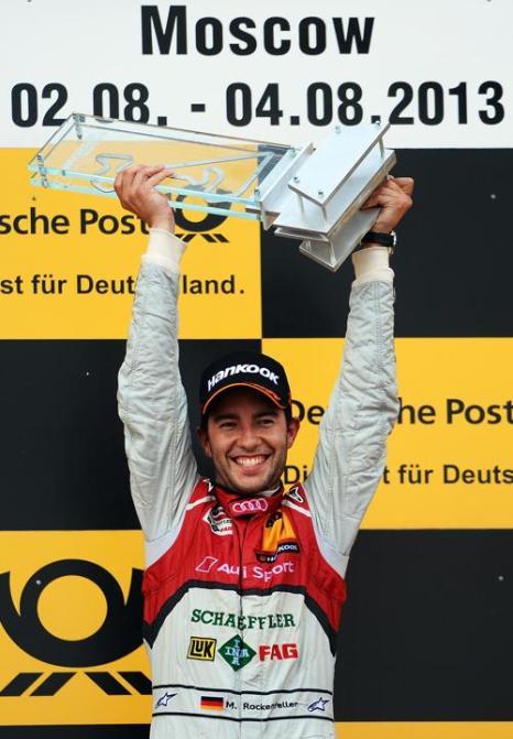 Победителем гонок DTM в Подмосковье стал пилот Audi Майк Рокенфеллер 4 августа 2013 года. Фото: Lars Baron/Bongarts/Getty Images