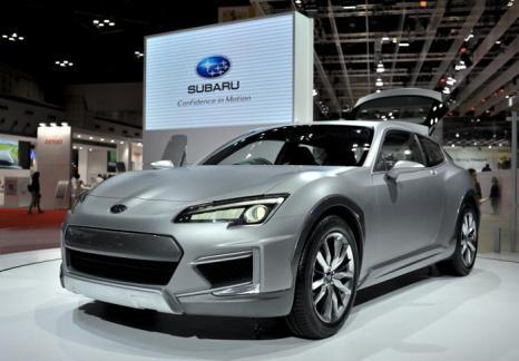 Subaru презентовала концепт-кар Cross спортивного дизайна на автосалоне в Токио 20 ноября 2013 года. Фото: Keith Tsuji/Getty Images