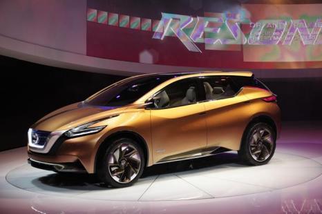 Концепция гибридного электрического автомобиля от Nissan на Североамериканском автосалоне в Детройте, 15 января 2013 года. Фото: Bill Pugliano/Getty Images