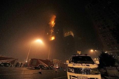 В городе Шеньяне провинции Ляодун неожиданно возник пожар.  Фото: blog.soufun.com