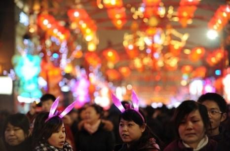 Праздник фонарей Юаньсяо в Китае.Фото: AFP