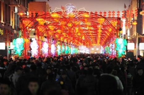 Праздник фонарей Юаньсяо в Китае.Пекин. Фото: AFP