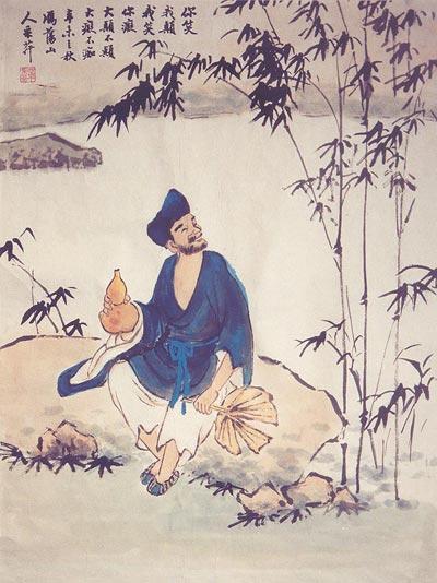 Китайская живопись. Сумасшедший монах Цзыгун. Чжан Цуйин