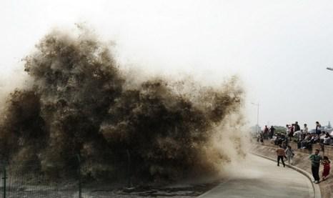 Река Цянтан имеет самую большую приливную волну в мире. Фото с epochtimes.com