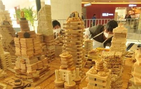 Город из печенья. Шанхай. Декабрь 2010 год. Фото с epochtimes.com
