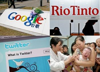 Китайские власти потребовали от СМИ писать о Rio Tinto, Google, Twitter и смертях от вакцины только то, что пишет СМИ компартии – «Синьхуа». Фото: LI XIN/AFP/Getty Images