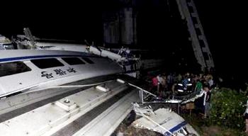 В КНР при крушении скоростных поездов погибли более 10 человек, госпитализировано около 90 . Фото с epochtimes.com