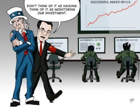 «Не считайте это взломом. Относитесь к этому, как к мониторингу наших инвестиций». Иллюстрация: Jeff Nenarella/The Epoch Times
