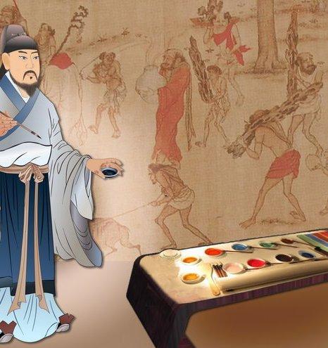 Янь Либэнь  знаменитый художник династии Тан. Иллюстрация: Кэтрин Чан/Великая Эпоха (The Epoch Times)