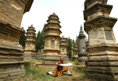 Лес пагод монастыря Шаолинь (Талинь). Фото: Getty images