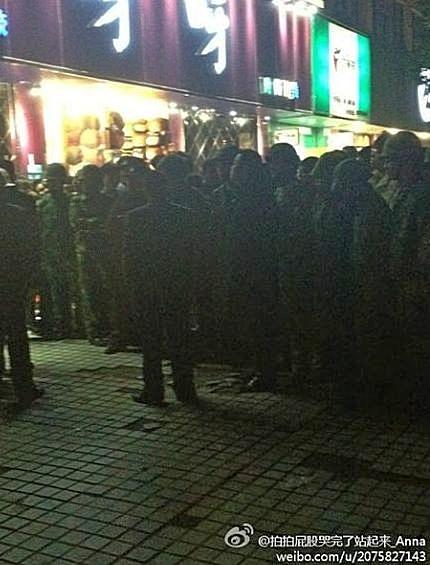 Фото с места событий. Город Сучжоу провинции Цзянсу. Ноябрь 2012 года. Фото с epochtimes.com