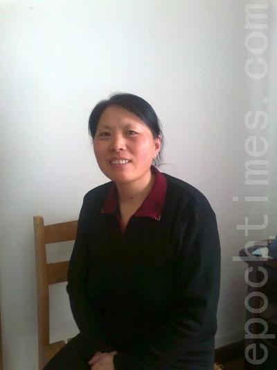Ван Сюйцин, приговорённая к году исправительных работ за практику Фалуньгун. Фото: The Epoch Times