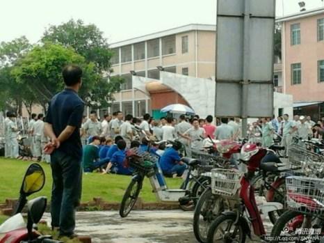 Забастовка рабочих. Провинция Гуандун. Май 2013 года. Фото с epochtimes.com