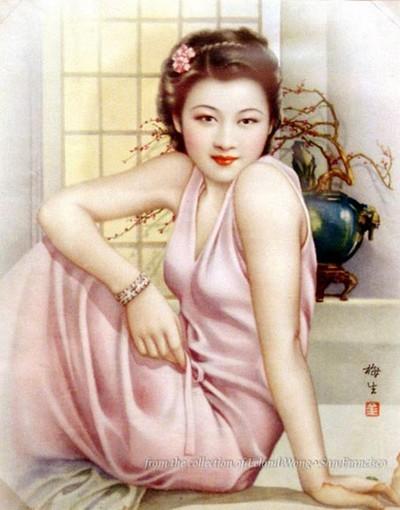 Девушки на обложках журналов старого Шанхая