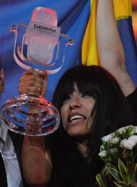Лорин – певица из Швеции, выиграла Хрустальный микрофон – главный приз «Евровидения-2012».  Фоторепортаж. Фото: Pablo Blazquez Dominguez/Getty Images