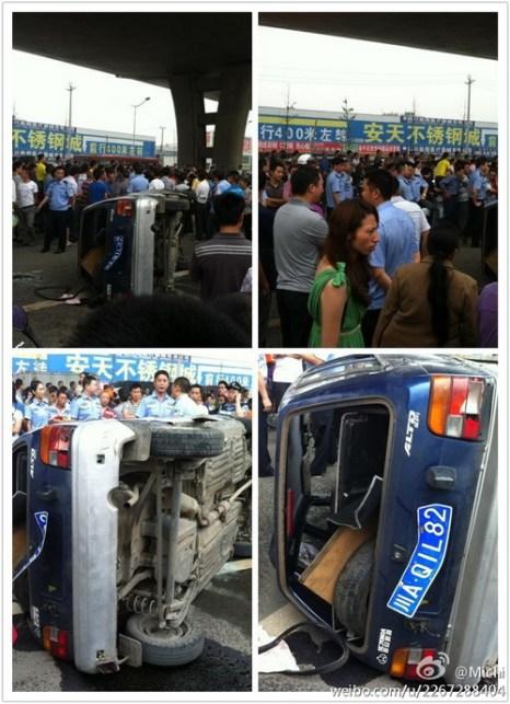 В Китае инспектор ГИБДД жестоко поплатился за избиение женщины-водителя. Фото: molihua.org