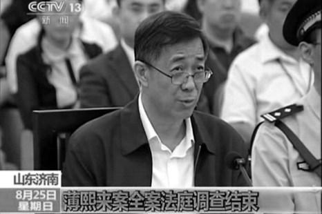 Опальный бывший член Политбюро Бо Силай в суде города Цзинань провинции Шаньдун 25 августа. Фото с сайта theepochtimes.com
