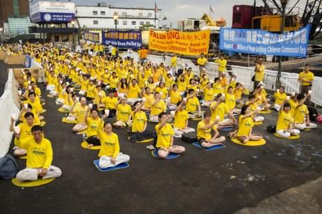 Мероприятия последователей Фалуньгун, посвящённые годовщине начала преследования этой практики в коммунистическом Китае. Нью-Йорк, США. Июль 2013 года. Фото: The Epoch Times