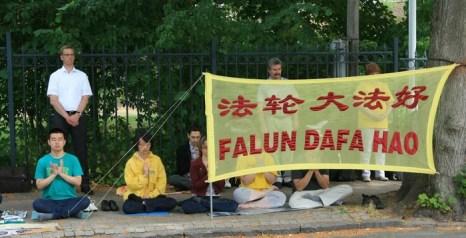 Мероприятия последователей Фалуньгун, посвящённые годовщине начала преследования этой практики в коммунистическом Китае. Копенгаген, Дания. Июль 2013 года. Фото: minghui.org