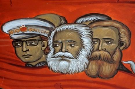 Часть фрески с изображением коммунистических вождей, горящих в аду. Фото: Getty Images