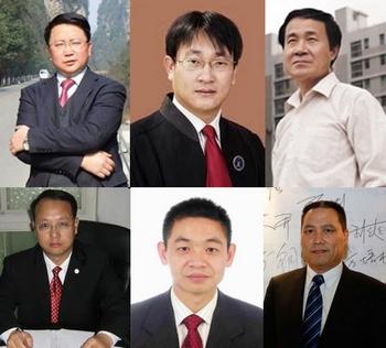 Некоторые китайские адвокаты, которые открыто назвали новые наказания за ложь в Интернете незаконными и потребовали от правительства их отмены. Фото с epochtimes.com