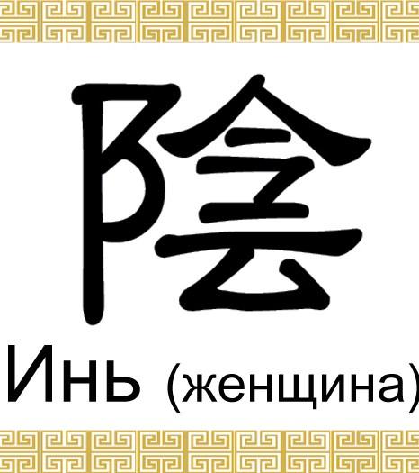 Инь — это китайский иероглиф, который ассоциируется с тем, что относится к женскому, негативному, холодному или тёмному. Иллюстрация: Великая Эпоха (The Epoch Times)