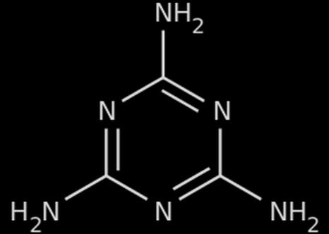 Химическая структура меламина Фото: Wikipedia