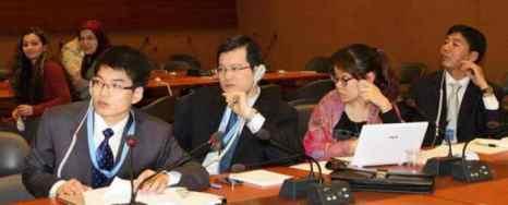 Китайская делегация на сессии по правам человека в Китае, состоявшейся в ООН. Фото: Ethan Gutmann