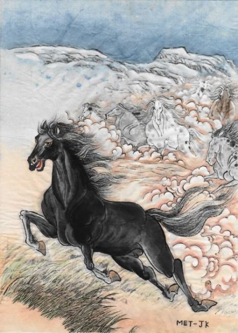 Быть впереди, как лошадь, ведущая весь табун. Иллюстрация: Jane Ku/Великая Эпоха (The Epoch Times)