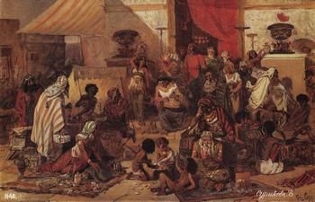 Изгнание торговцев из храма. Фото с artsurikov.ru