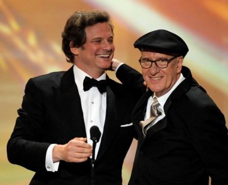 «Король говорит!». Актеры Джеффри Раш и Колин Фёрт на 17-й церемонии вручения призов Гильдии киноактеров в Лос-Анджелесе, Калифорния. Фото: Kevin Winter/Getty Images