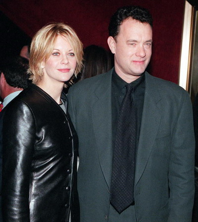 Мег Райан и Том Хэнкс на премьере фильма «Вам письмо». Фото: MATT CAMPBELL/AFP/Getty Images