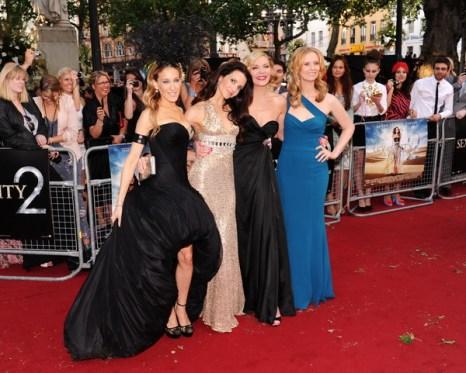 Сара Джессика Паркер, Кристин Дэвис, Ким Кэтролл и Синтия Никсон на премьере «Секс в большом городе 2» в Лондоне, Англия. Фото: Gareth Cattermole/Getty Images