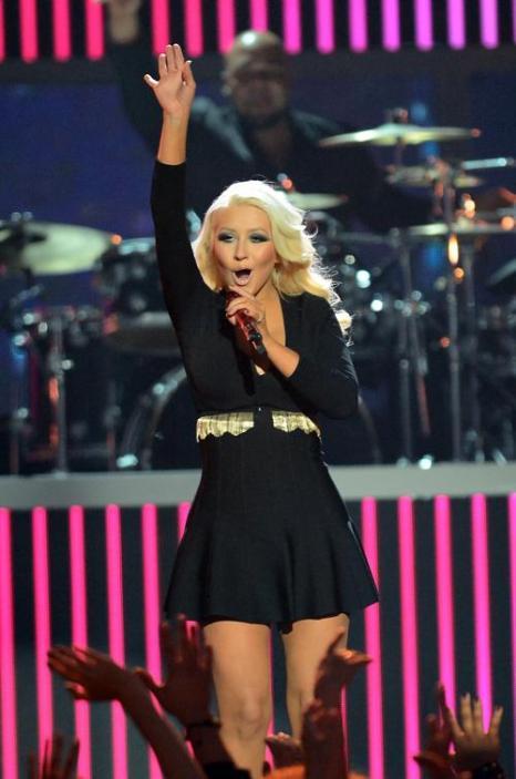 Кристина Агилера на церемонии Billboard Music Awards 2013 в Лас-Вегасе 19 мая 2013 года. Фото: Ethan Miller/Getty Images